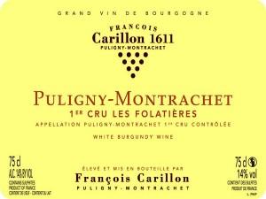 Puligny-Montrachet 1er cru Les Folatières 2017