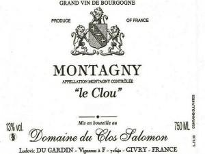 Montagny Le Clou 2016