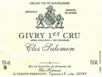 Givry 1er Cru Clos Salomon 2013