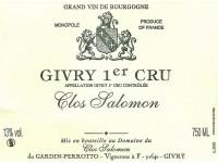 Givry 1er cru Clos Salomon 2017