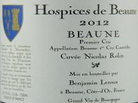 Beaune 1er Cru 2012 Hospices de Beaune Cuvée Nicolas Rolin