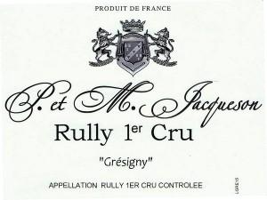 Rully 1er Cru Grésigny 2016
