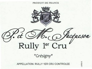 Rully 1er Cru Grésigny 2017